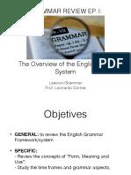 Aula 02 - Grammar Review - Grammar Structures