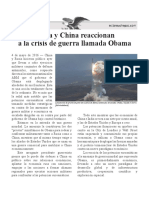 Rusia y China reaccionan contra Obama