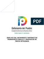 Tarifa Integrada Defensoria del Pueblo