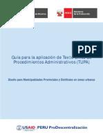 Guia Para La Aplicacion Del TUPA
