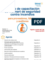 6 Walmart Fire Safety Training Module v.1.1 (Updated) March 4, 2015 - Spanish