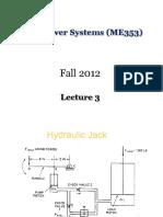 Fluid Power - (ME353)- Lec3