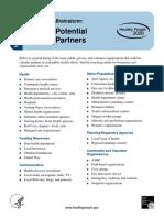 hs 490 potential partners brainstorm