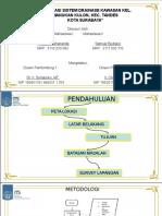 Evaluasi sistem drainase Kel. Manukan Kulon, Kel. Tandes Surabaya