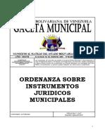 5 Gaceta Nº1-2008 Ordenanza Sobre Instrumentos Juridicos Mun
