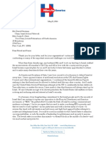 Hillary Clinton IAN Letter