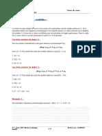 Critères de stabilité + précision (1)