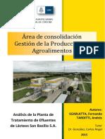 Sgarlatta y Tarditti. Análisis de La Planta de Tratamientos de Efluentes..