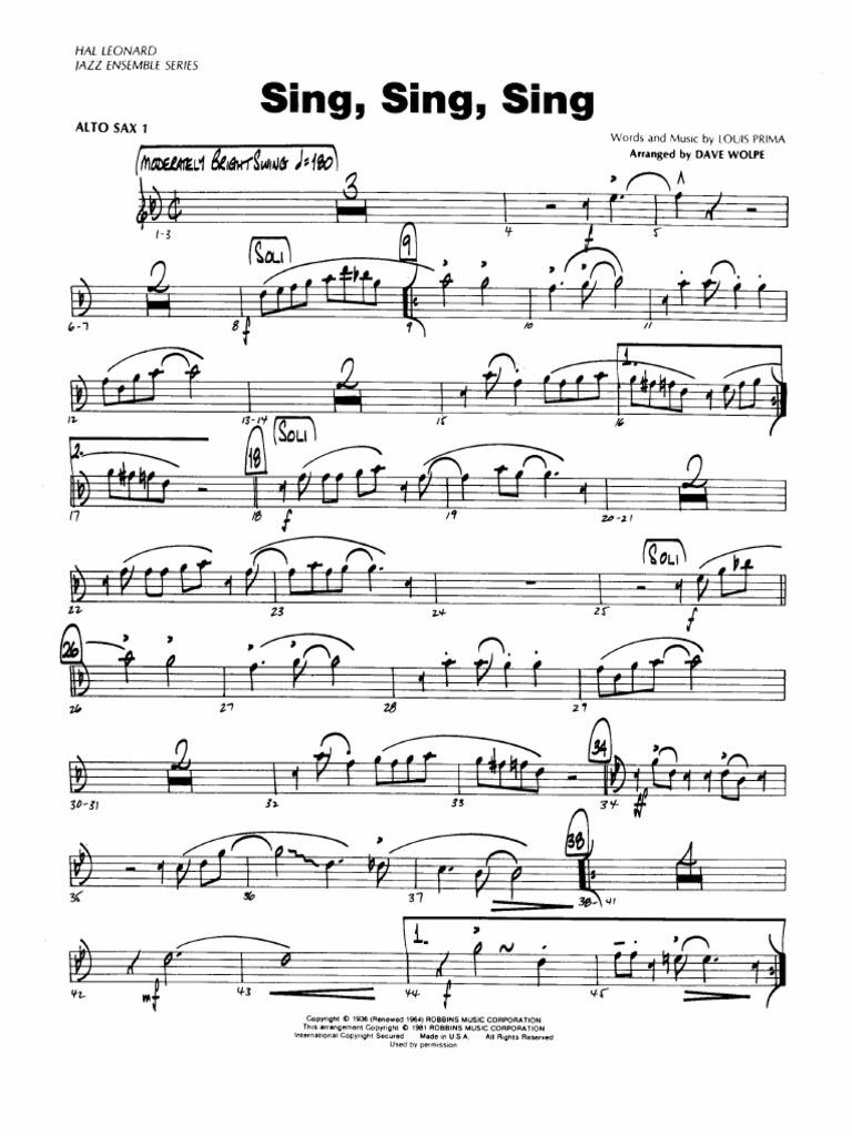 Sing Sing Sing Big Band pdf