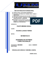 Funciones Vectoriales de Variable Real