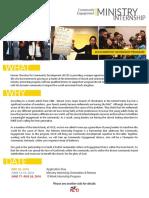 Community Engagement Ministry Internship Program(Interns)