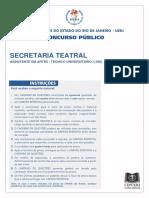 (E00238_2015)Secretaria Teatral (Médio) OBJ. - Decult 2015 - Finalizada