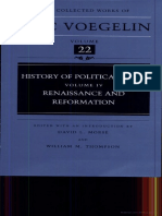 Eric Voegelin History of Political Ideas Vol.iv