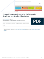 Tutorial Illustrator Escudo Capitan America