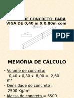 Forma de Concreto Para Viga de 0,40 m