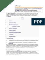 Calidad de Software, Aseguramiento de Calidad de Software y Pruebas de Software