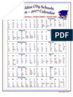 2016-2017 Traditional Updated May 7 Calendar