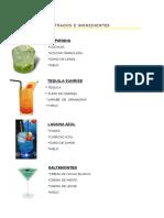 Tragos e Ingredientes
