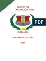 Reglamento Interno. Director Segundo Silva Maguiña
