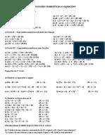 Expressões Numéricas e Equações