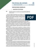 Real Decreto 35/2010, de 15 de enero, por el que se aprueba el Reglamento de ingreso y promoción y de ordenación de la enseñanza de formación en las Fuerzas Armadas