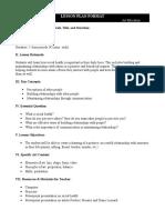 lesson plan 4 - social health final