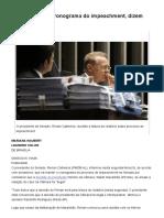 Renan Manterá Cronograma Do Impeachment, Dizem Senadores - 09-05-2016 - Poder - Folha de S