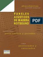 Material acustico Absorbente para paredes y pisos