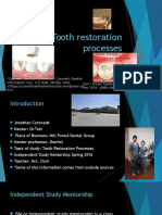 tooth restoration processes midterm presentation