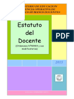 Estatuto Docente Argentino Feb 2015