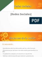 redes sociales y aplicacion ppt