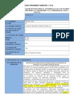 Proyecto de Convivencia 2014- Formulario 2
