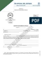 Modelo de Certificado Médico Oficial