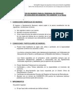GENDARMERIA III Requisito de Ingreso Concurso de Admision