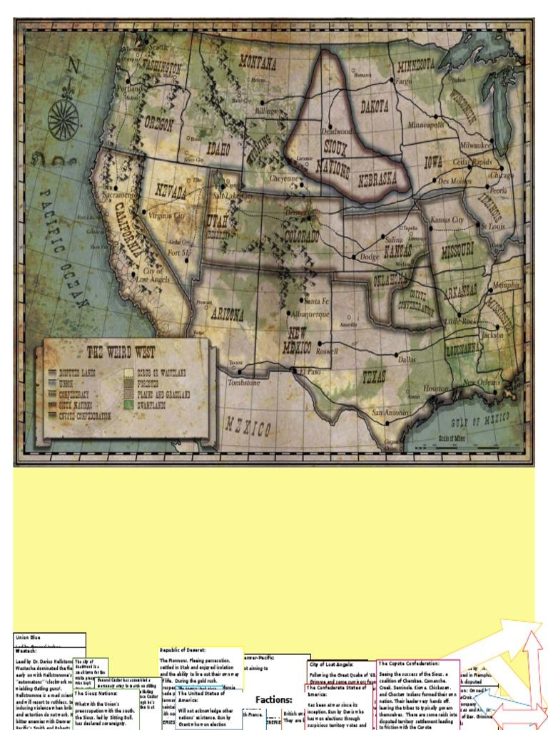Deadlands California Map.Factions Deadlands Confederate States Of America Union American