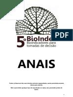 Anais - 5º Bioindex