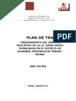 Plan Trabajo Ie Mateo Pumacahua