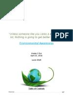environmental awareness unit - part 1
