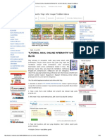 Tutorial Soal Online Interaktif UntTUTORIAL SOAL ONLINE INTERAKTIF UNTUK BLOGuk Blog _ Media Pendidikan