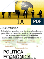 1. Macroeconomia, Politica Economica, Ministerios