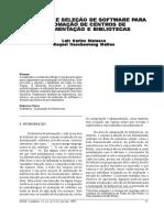1998 MARASCO MATTES Avaliacao e Selecao de Sftw Para Automacao de Centros de Documentacao e Bibliotecas