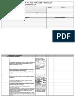 Check-list Da Auditoria Para Certificação Nº79