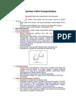 Apuntes Sobre Excipientes Para Comprimidos TF I 2016