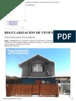 Regularización de Viviendas « Oficina de Arquitectura Popular