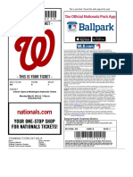 Washington Nationals vs. Detroit Tigers 5-9-2016 Tickets