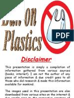 Ban on Plastics