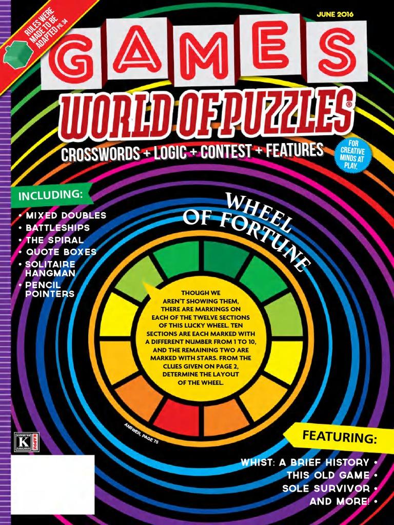 Games world of puzzles june 2016pdf leisure malvernweather Gallery