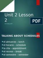 spanish i u2 l2 vocab
