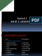 spanish i unit 2 lesson 3 ppoint jackson
