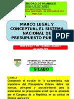 Capitulo i Marco Conceptual El Sistema Nacional de Presupuesto Público
